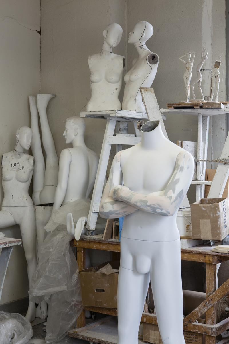 Mannequin Parts in Michael Evert's Studio, 2014. Collection of Ralph Pucci