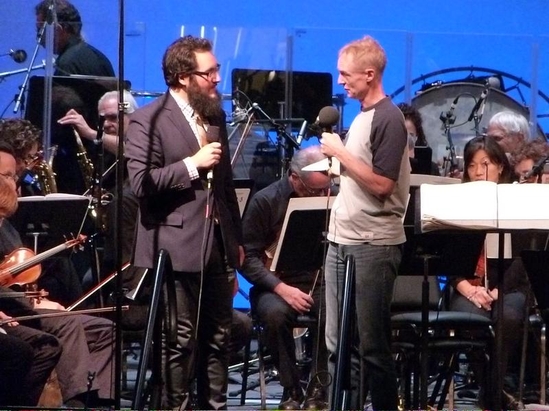 WNYC's John Schaefer interviews composer Judd Greenstein at Brookfield Place October 16, 2015