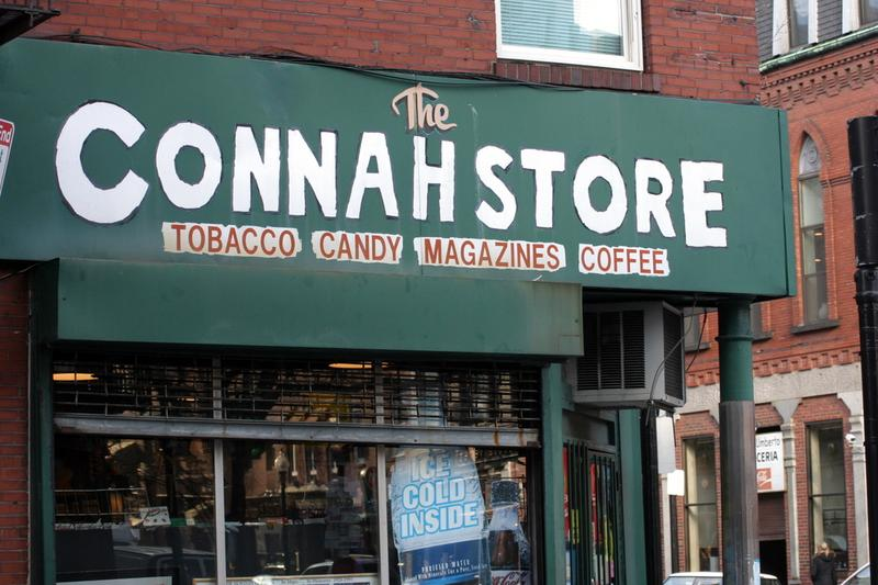 "A community corner store appropriately called ""The Connah Store"" in Boston's North End."
