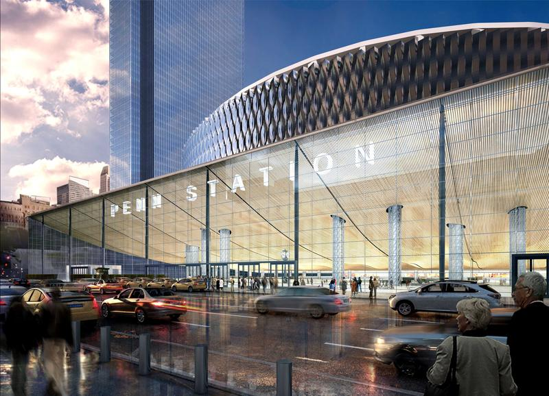 Redeveloped Penn Station exterior: view from 8th Avenue