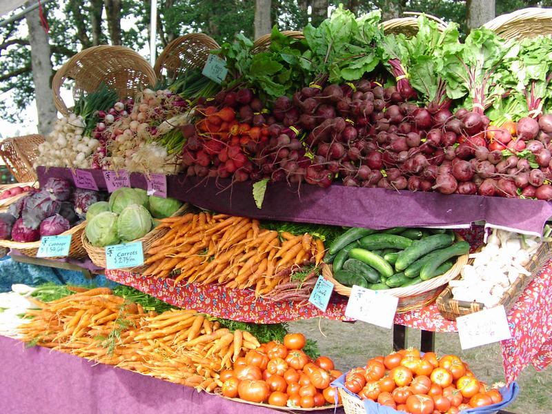 A farmers' market in Corvallis, Oregon.