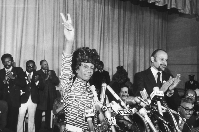 U.S. Representative Shirley Chisholm announces her entry for Democratic nomination for the presidency, at the Concord Baptist Church School in Brooklyn, New York, January 25, 1972.