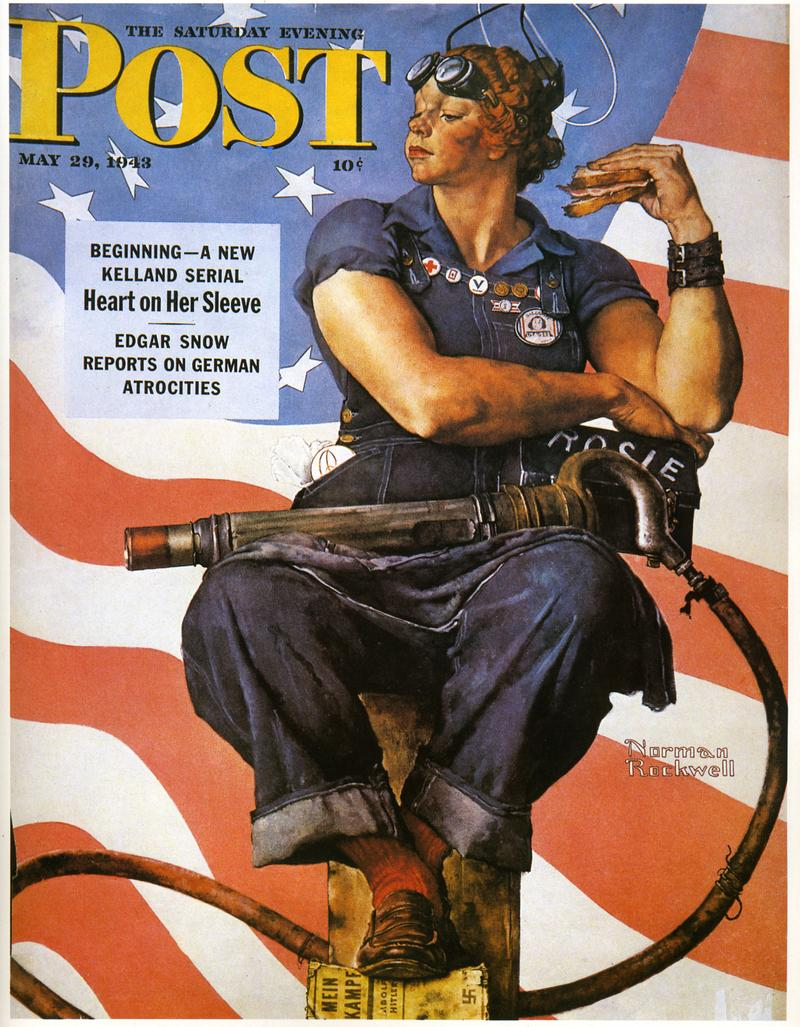 """Norman Rockwell's """"Rosie the Riveter"""""""