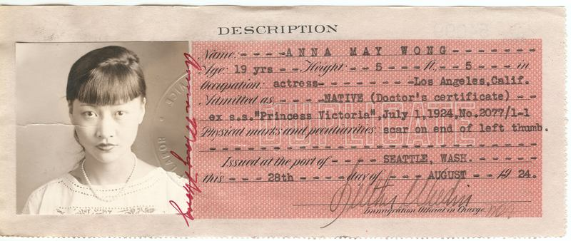 Certificate of Identity that Chinese entering or residing in the US were required to carry at all times, starting in 1909