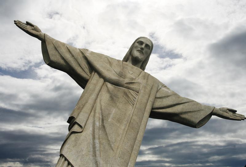 The Christ the Redeemer statue overlooking Rio de Janeiro, Brazil
