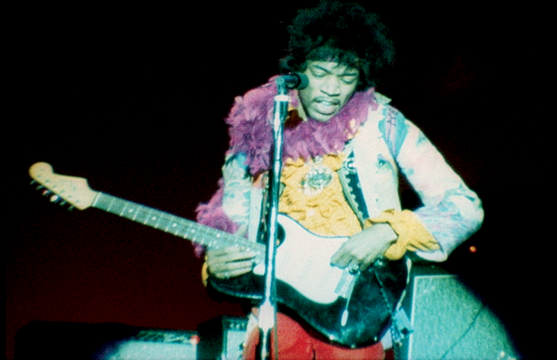 """An image of Jimi Hendrix from """"Monterey Pop."""""""