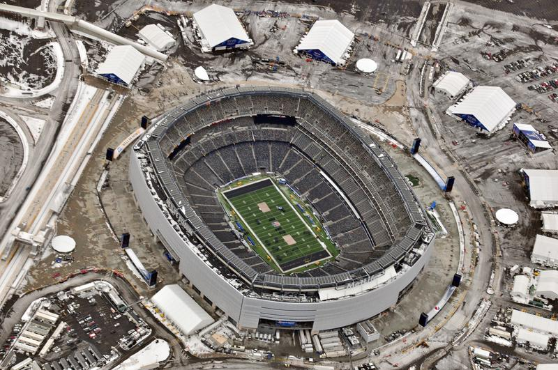 Aerial view of MetLife Stadium
