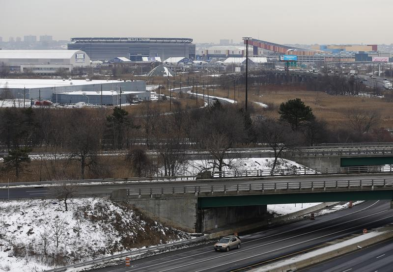 MetLife Stadium in East Rutherford, New Jersey, host of this year's Super Bowl