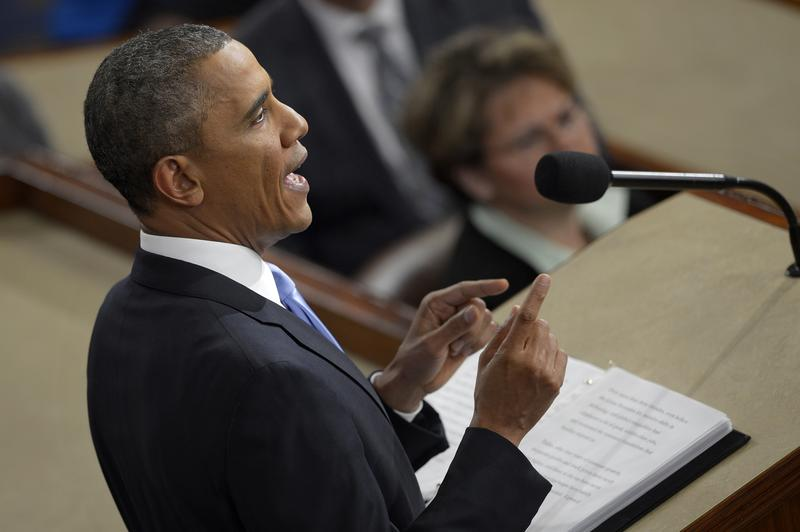 President Obama delivers the 2014 State of the Union speech.