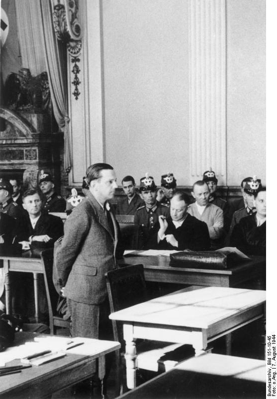 "A defendant in the German ""People's Court,"" 1944"