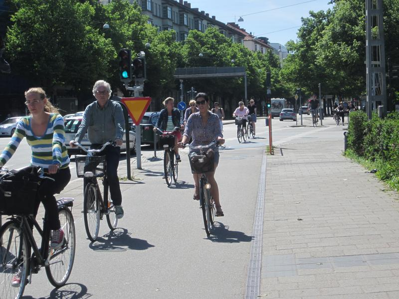 Bicylists in Malmo, Sweden