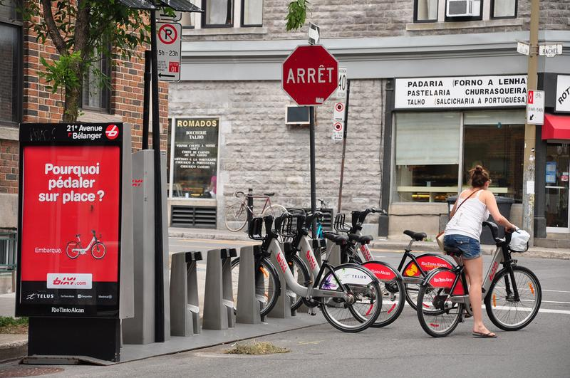Bixi bike share, Montreal