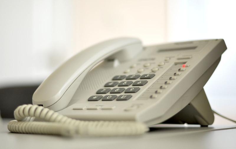 Office phone  Panasonic landline phone.