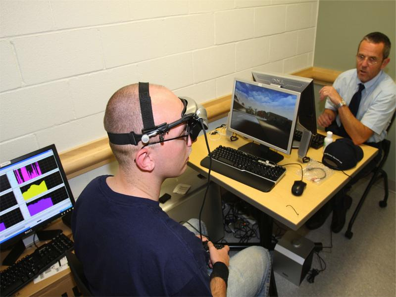 Through a DoD grant, Dr. Carmen Russoniello of East Carolina University is working toward a portable biofeedback training program that could prevent or reduce post-traumatic stress symptoms.