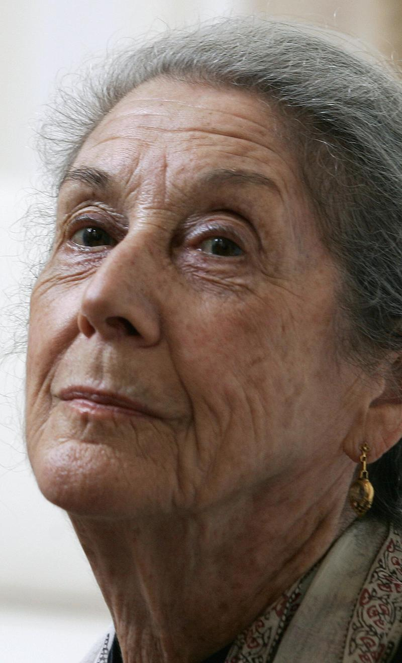 South African novelist, Nadine Gordimer, May, 2006