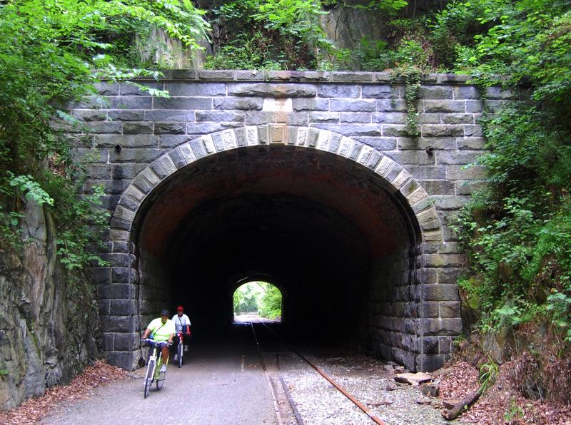 "A ""rails to trails"" bike path in Pennsylvania"
