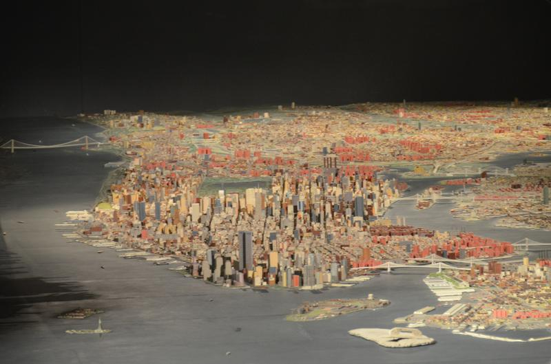 The NYC panorama at the Queens Museum