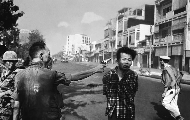 South Vietnamese police chief Gen. Nguyen Ngoc Loan kills Viet Cong suspect Nguyen Van Lem, in one of the iconic photos of the Vietnam War.