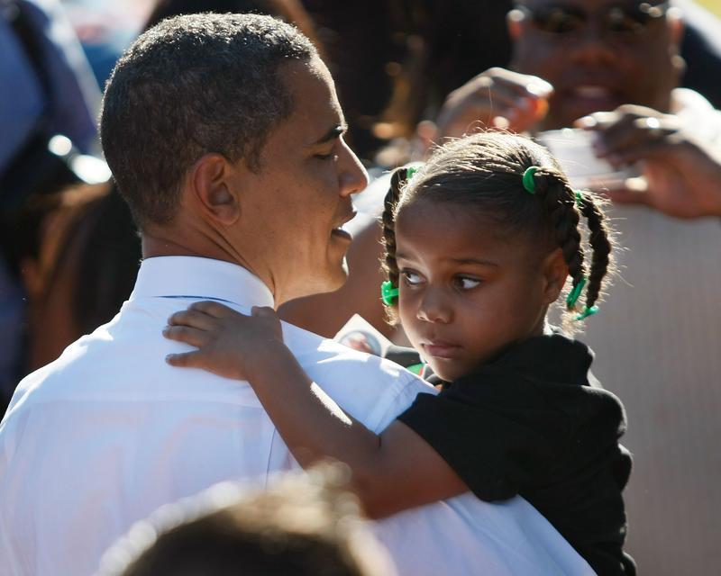 Then-Senator Barack Obama during a campaign event Las Vegas, Nevada in October, 2008