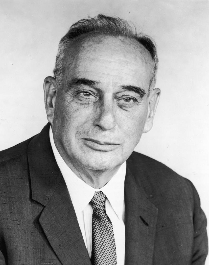 New York City parks department commissioner and World's Fair president Robert Moses (1888 - 1981), circa 1950.