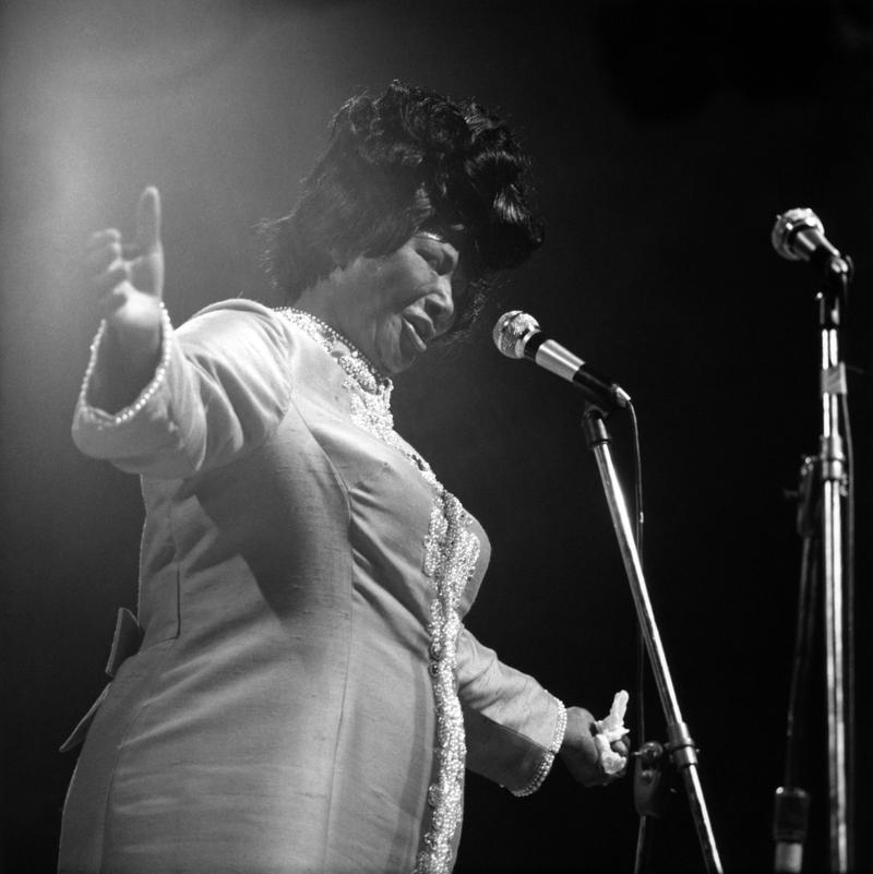 JULY 10, 1970: NEWPORT JAZZ FESTIVAL Photo of Mahalia Jackson, performing live onstage