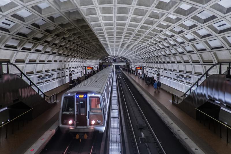 A Metro Blue Line train