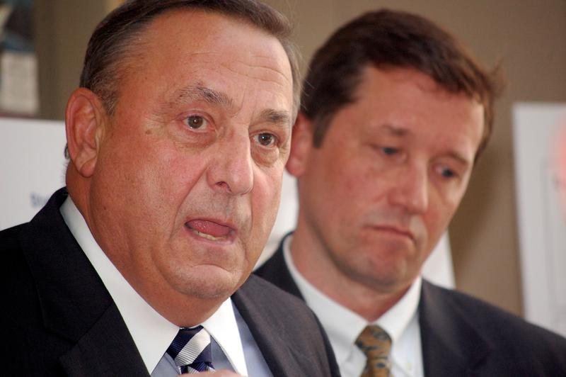 Governor Paul R. LePage in foreground, and Education Commissioner Stephen Bowen. May 01, 2013