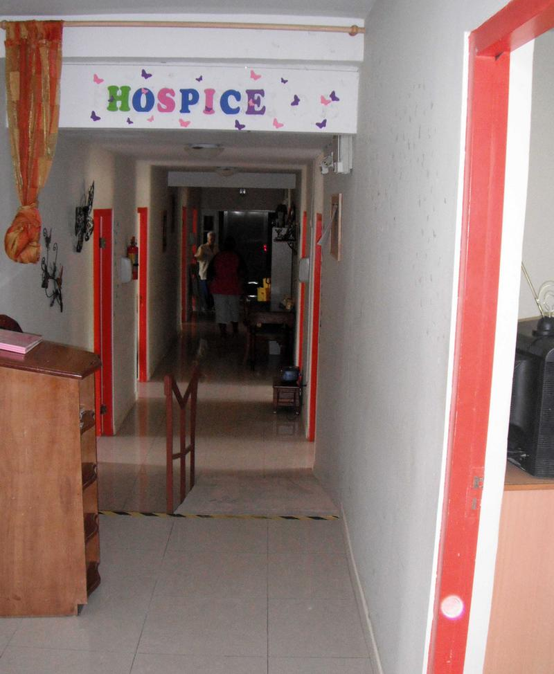 Hospice entrance from the care home part of the building
