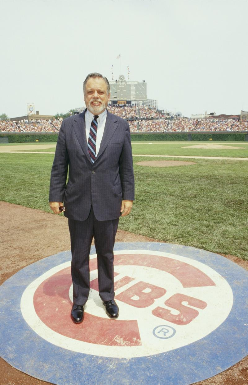 Major League Baseball Commissioner Bart Giamatti poses for a May 1987 photo at Wrigley Field in Chicago, Illinois.