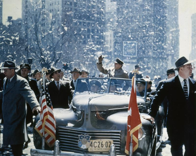 General Douglas MacArthur being welcomed to New York City, April 20, 1951.