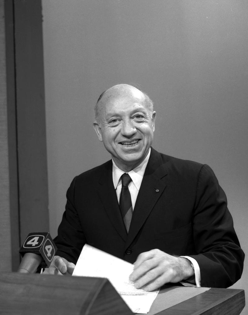 Senator Jacob K. Javits on WNBC-TV 'Searchlight' program, March 12, 1967.