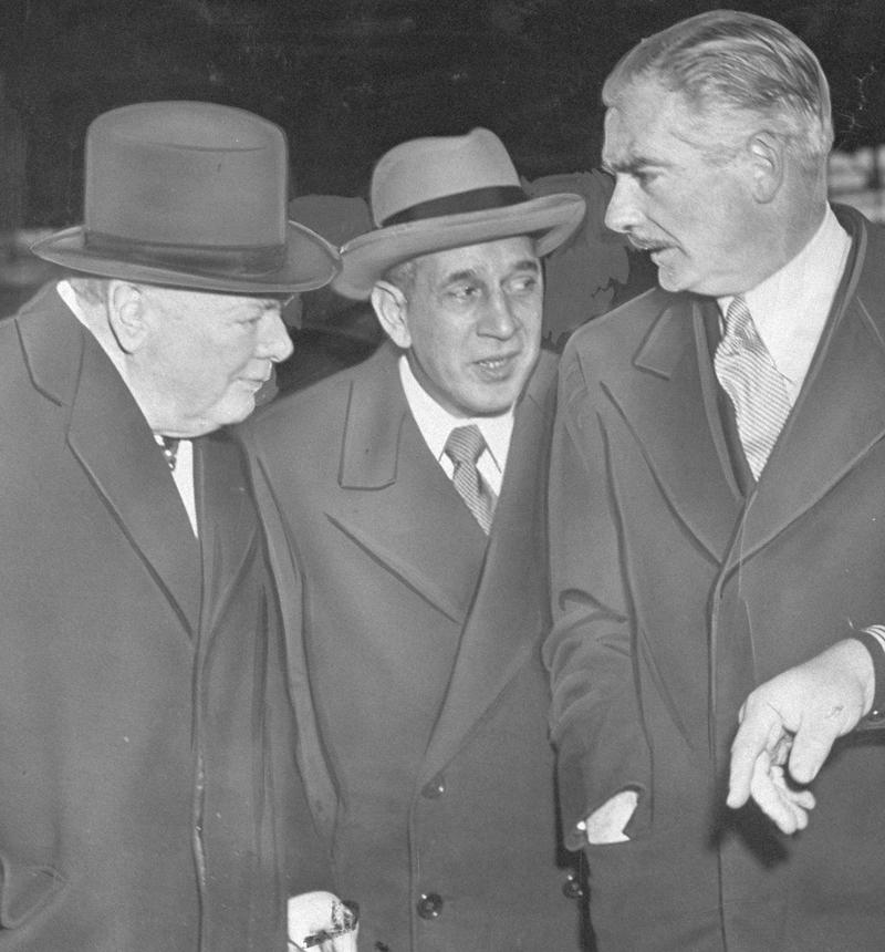 January 5, 1952: Winston Churchill, Mayor Vincent Impellitteri, and Anthony Eden.