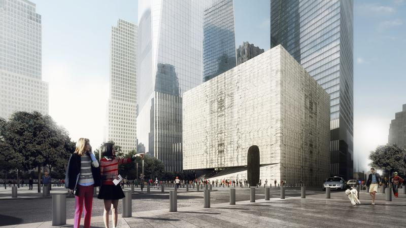 RONALD O. PERELMAN PERFORMING ARTS CENTER AT THE WORLD TRA DE CENTER. DAY RENDER FROM SOUTHEAST.