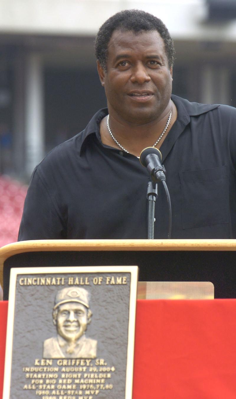 Ken Griffey, Sr., at the Cincinnati Hall of Fame