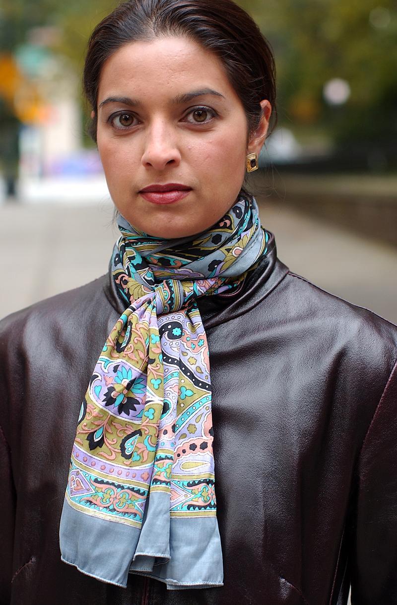 Author Jhumpa Lahiri in Brooklyn