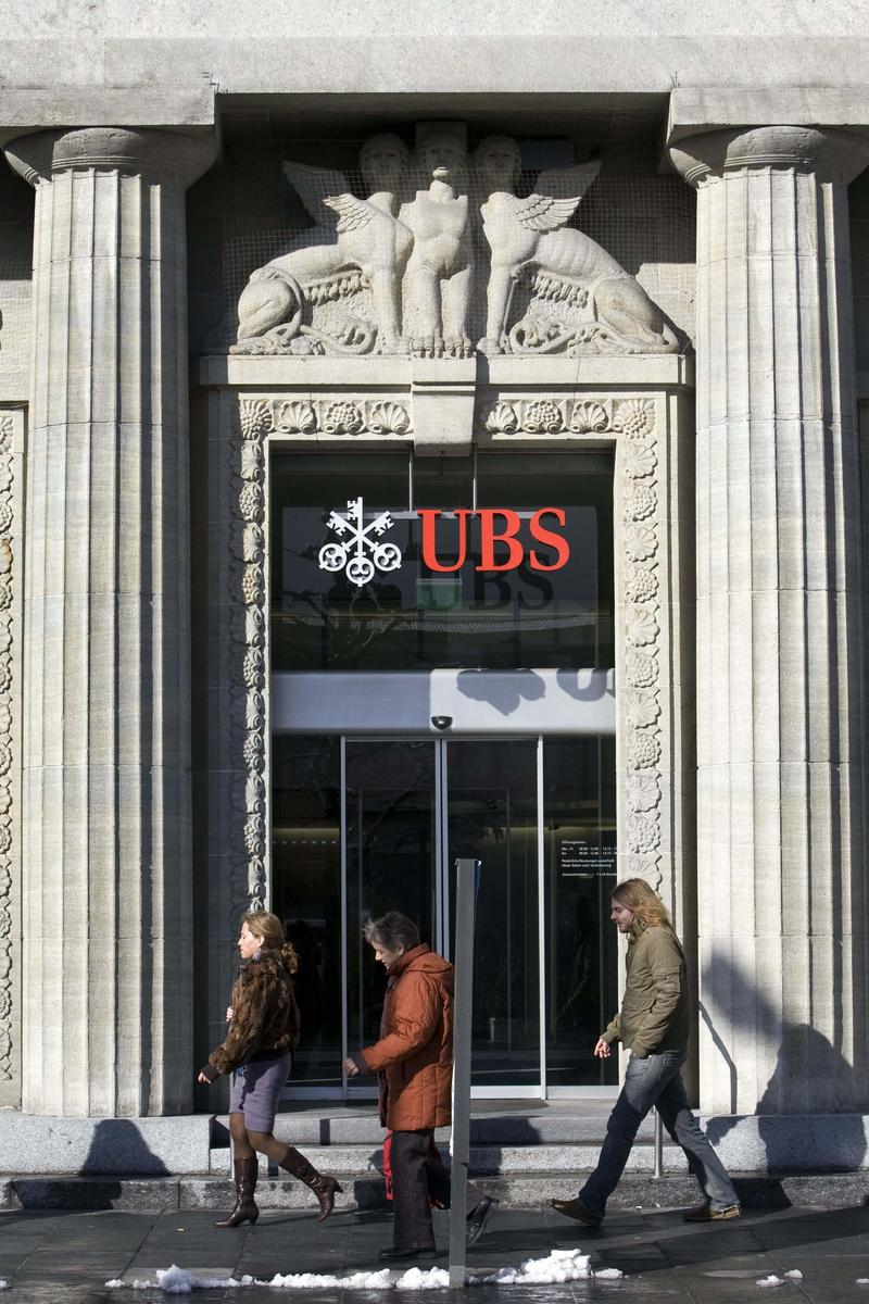 The logo of the Swiss bank UBS, pictured on Feb. 12, 2009 in Aarau, Switzerland. Switzerland's largest bank, UBS, has agreed to pay 780 million US Dollars and name some US clients to resolve fraud.