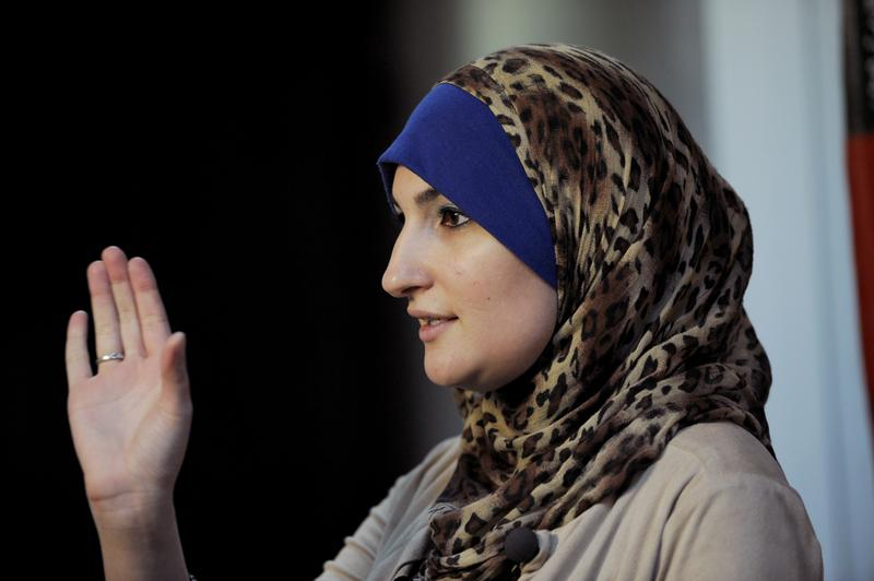 Activist Linda Sarsour at the association's headquarters in the Brooklyn borough of New York, Thursday, Dec. 29, 2011.