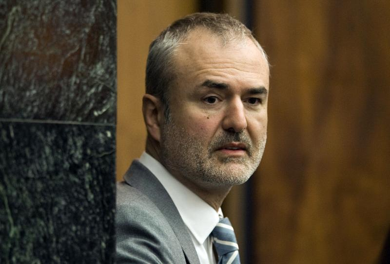 Gawker Media founder Nick Denton arrives in a courtroom in St. Petersburg, Fla.