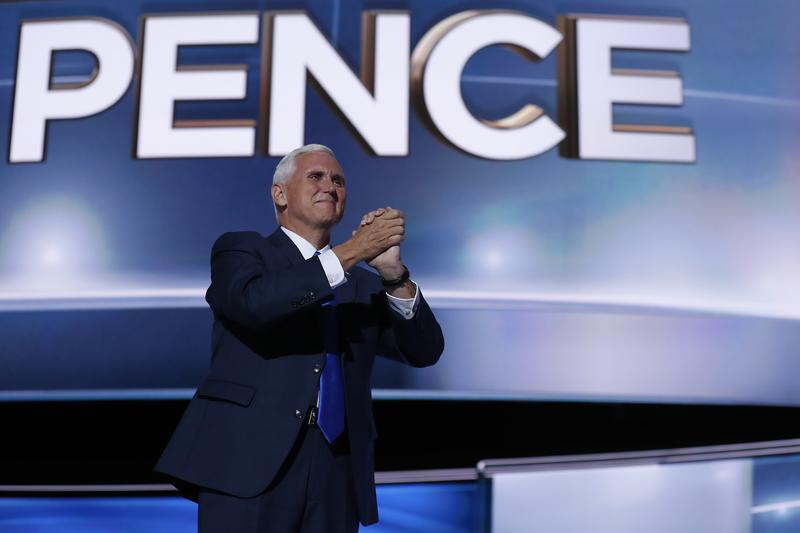 Vice President-elect Mike Pence at the Republican National Convention in July