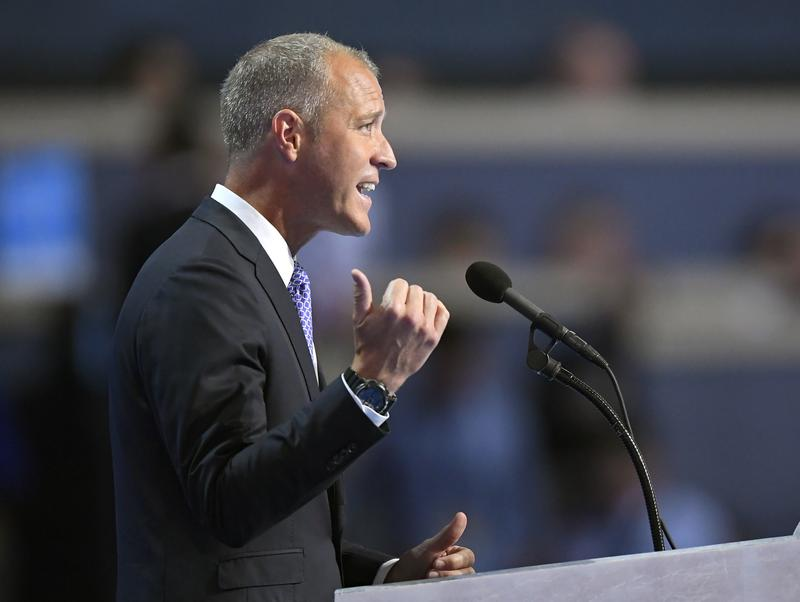 Rep. Sean Patrick Maloney, D-NY, Co-Chair of the Congressional LGBT Equality Caucus, speaks during the final day of the Democratic National Convention in Philadelphia , Thursday, July 28, 2016.