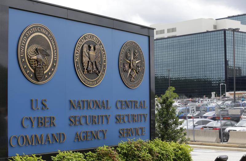 In this June 6, 2013 file photo, the sign outside the National Security Administration (NSA) campus in Fort Meade, Md.