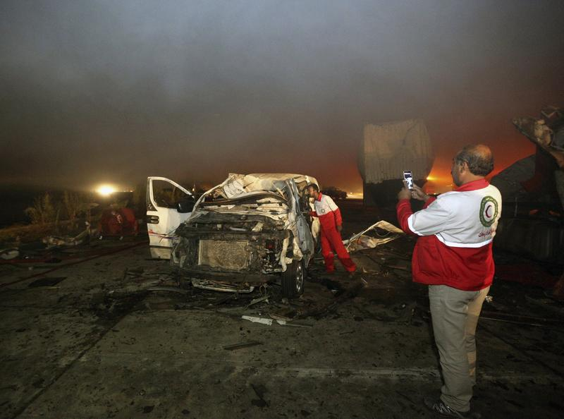 The scene of a car bomb attack south of Baghdad in November.