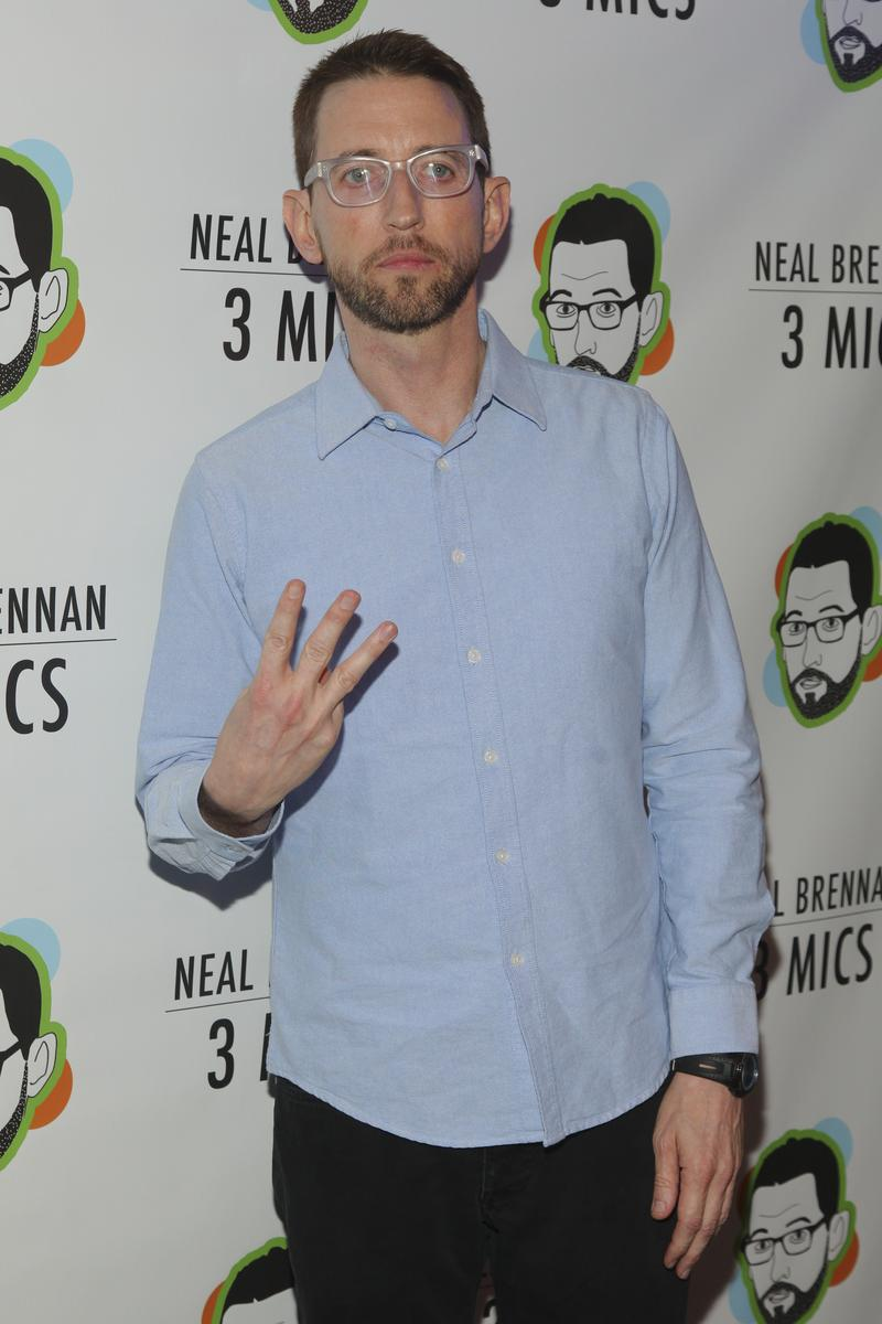 "Neal Brennan attends the Broadway opening night party of ""Neal Brennan 3 MICS"" at The Lynn Redgrave Theater on Thursday, March 3, 2016, in New York."