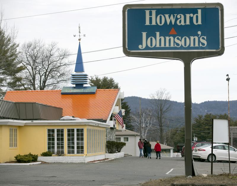 In this Wednesday, April 8, 2015 photo, customers walk into Howard Johnson's Restaurant in Lake George, N.Y. The HoJo's on the main strip of the Adirondack Mountain resort town of Lake George.