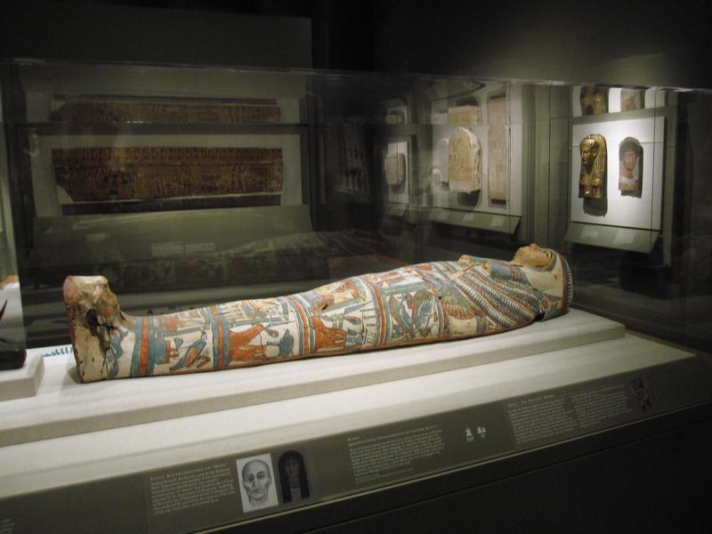 This Oct. 22, 2014 photo shows a mummy at the Walters Museum of Art in Baltimore. The museum collection was amassed by a father and son, and is known for its antiquities among other things.