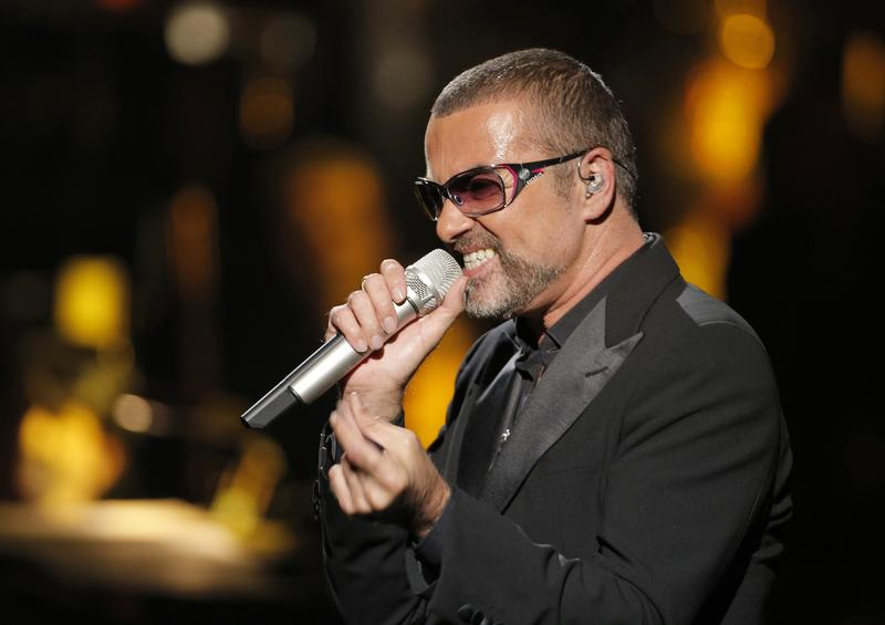 British singer George Michael in concert to raise money for AIDS charity Sidaction, in Paris, France, in this file photo dated Sunday, Sept. 9, 2012.
