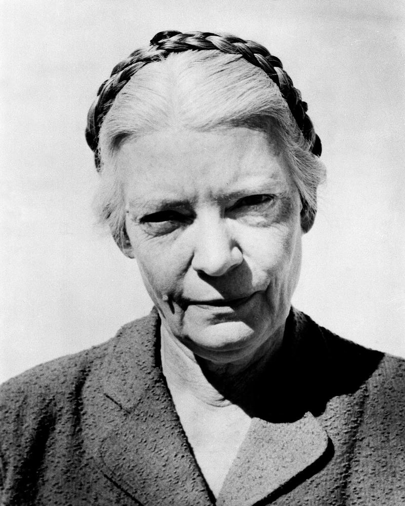 "Dorothy Day, publisher of ""The Catholic Worker,"" is shown circa 1960."