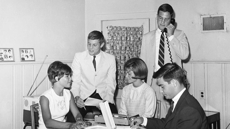 These youths operate Date-O-Matic, Inc., a firm that doesn't promise anything except a date in St. Louis on July 9, 1965. The dates are set up by computers.