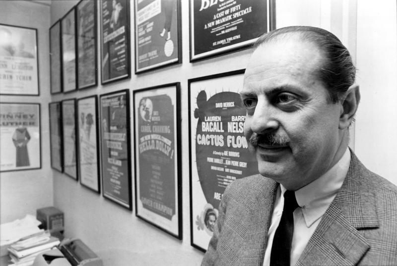 American theatrical producer David Merrick is shown in his Broadway office in New York City in Feb. 1966.