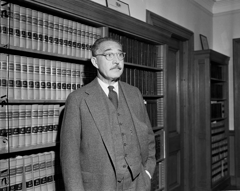 Judge Harold Medina is pictured in his chambers in New York City, June 4, 1951.